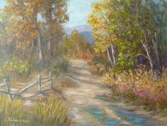 SALE Original Autumn Texured Cottonwood Tree by PaintingsofNature