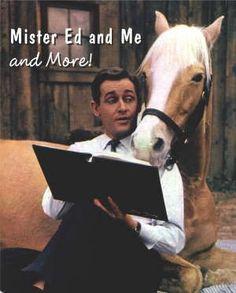 Mister Ed, aka Bamboo Harvester, and Alan Young as his pal Wilbur