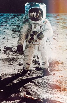 Apollo 11 Moon Landing Photo Lot Buzz Aldrin Plants Flag 2 Great Photos 1969 Delicacies Loved By All