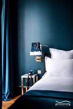 blue bedroom idea peacock bright blue romatic texture