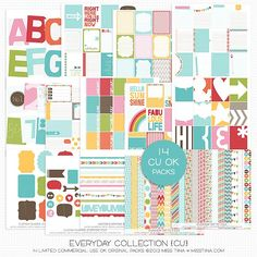 NEW: Everyday Collection {CU} plus 128 FREE Printable Journal Cards!! | MissTiina.com {Blog}