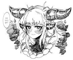 Dark Elf, Pen Art, Monster Girl, Character Design References, Make Art, Anime Art, Doodles, Dragon, Hero