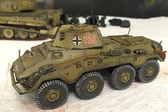 I've committed to changing my ww2 german paint recipe, and have nearly completed these two vehicles for my upgraded...