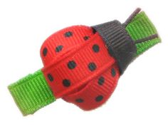 Ladybug : Hip Girl Boutique - , Ribbons, Hair Bows, Hair Clips, Hairbow Hardware, Free Hairbow Instructions