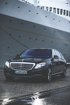 Stylish, effortless superiority combined with trend-setting exclusivity: The Mercedes-Maybach S 500 photographed in Rotterdam by Gijs Spierings. #mbsocialcar [Mercedes-Maybach S 500 | combined fuel consumption 8.9 l/100km | combined CO2 emission 207 g/km | http://mb4.me/efficiency_statement]