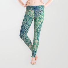 Emerald Doodle Leggings