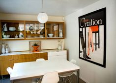 Calze Ortalion poster by Rene Gruau in the Los Feliz home of Julie and Rob Maigret. (Photos by Julie Maigret and Rachel Thurston)