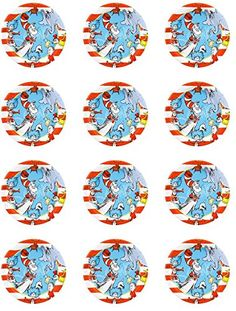 Cat in the Hat Edible Cupcake Toppers - Set of 12 >>> Insider's special offer that you can't miss : Baking desserts tools Baking Desserts, No Bake Desserts, Edible Cupcake Toppers, Baking Tools, Decorating Tools, Hat, Make It Yourself, Canning