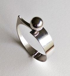 Italian Modernist Bracelet Sterling Silver   by 55thAvenueVintage
