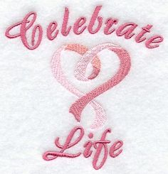 Embroidery Idea for Cancer Ribbons