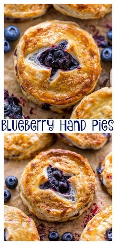 Blueberry Hand Pies - An Easy Blueberry Hand Pie Recipe - An Easy Blueberry Hand Pie Recipe! Flaky crust and gooey blueberry filling! Breakfast Recipes, Dessert Recipes, Dessert Blog, Hand Pies, Just Desserts, Food To Make, Sweet Treats, Cooking Recipes, Cooking
