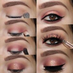 Easy to Make Chic Eye Makeup? Step-by-Step Instruction! 20 Ideas How Easy to Make Chic Eye Makeup? Step-by-Step Instruction! 20 IdeasHow Easy to Make Chic Eye Makeup? Step-by-Step Instruction! Eye Makeup Cut Crease, Dramatic Eye Makeup, Glitter Eye Makeup, Eye Makeup Steps, Simple Eye Makeup, Smokey Eye Makeup, Eyeshadow Makeup, Natural Makeup, Easy Makeup Looks