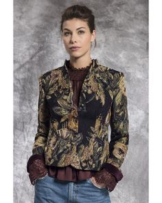 Quality Rofa Fashions Brocade Jacket from Irish Handcrafts Dress Shop Collection perfect for formal and casual wear. Jacket Style, Jacket Dress, Ireland Clothing, Irish Fashion, Fashion Group, Casual Wear, Knitwear, Womens Fashion, How To Wear