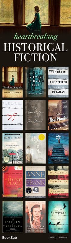 Historical fiction worth reading, including WW2 books with tragic books about the Holocaust, nonfiction books that tell true stories, and more. Click for our full list of heartbreaking historical fiction.