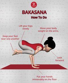 is just another name of Crane or Crow Pose, also known as Kakasna. Basically, work on arm and wrist balancing posture. Ashtanga Yoga, Vinyasa Yoga, Iyengar Yoga, Learn Yoga, How To Do Yoga, Crane Pose Yoga, Yoga Asanas Names, Yoga Sequences, Yoga Cartoon