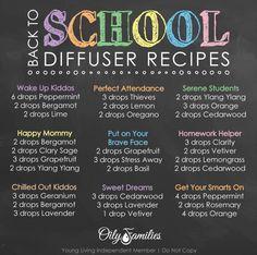 #backtoschool #diffuserblends #essentialoils