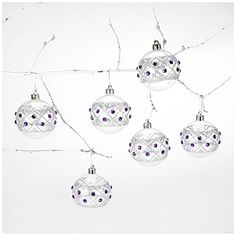 $6 Chic Christmas on a Single Mommy Budget - Big Lots - 6-Pack Jeweled Shatterproof Ornaments