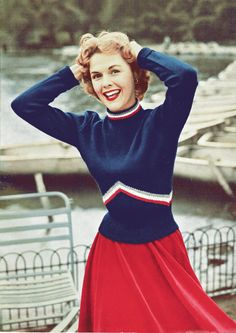 1950s chevron sweater knitting pattern PDF download format