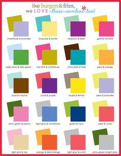 color guide : Erin Condren #erincondren