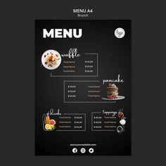 Brunch restaurant design menu template F. Menu Restaurant Design, Cafe Menu Design, Menu Card Design, Bakery Menu, Food Menu Design, Restaurant Menu Template, Food Poster Design, Bakery Logo, Stationary Design