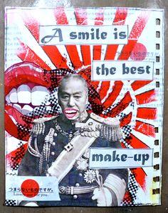 """Semaine 9  sujet: """"Le sourire"""" par http://hellofannyscrap.com/"""