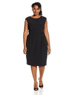 Adrianna Papell Women's Plus-Size Cap Sleeve Side Pleated Sheath Dress  http://www.effyourbeautystandarts.com/adrianna-papell-womens-plus-size-cap-sleeve-side-pleated-sheath-dress/