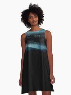 Perfect for a beach vacation! 'Turquoise Aurora Borealis' A-Line Limited Edition Summer Dress ✨Where Art & Fashion meet Travel & Self-Discovery✨