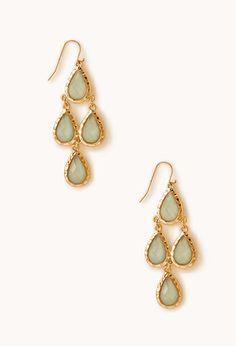 Gone Boho Chandelier Earrings (gold/mint)