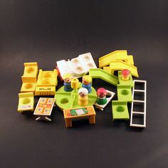 Vintage Little People School and House Accesories by ChompMonster, $15.00