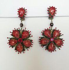 KONPLOTT große elegante Ohrclips Blume Rot Floral LUXUS SELTEN Elegant, Earrings, Ebay, Jewelry, Fashion, Luxury, Red, Flowers, Classy