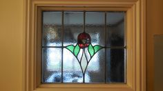 Stained glass panel at home  Poss 1930's?