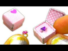 Miniature doll ring and gift box to keep it inside tutorial - Dollhouse DIY ❤ - YouTube