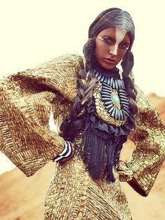 Anita Quansah, tribal style beaded
