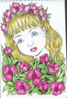 flowergirl Princess Zelda, Disney Princess, Mix Media, Disney Characters, Fictional Characters, Aurora Sleeping Beauty, Paintings, Drawings, Art