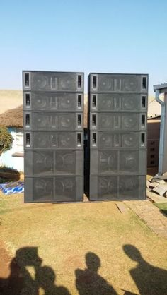 This entire system caters for 10 000 people. Suitable for live bands and Deejaying. search for us on facebook. To see all our other designs nd discounts jus luk for Jsn Audio. The sound engineers. We also make line array. Bass bins all designs. Stage monitors, church sound, club installations and sound hire also deejaying. Amplifiers . Inuke 6000, pioneer cd jays 350. We moved from pta to jhb South , Palmsprings