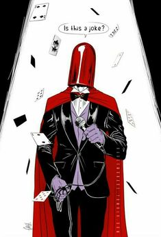 "badlemonade: "" A quick doodle of Red Hood "" Batman Arkham City, Joker Arkham, Gotham City, Batman Robin, Im Batman, Batman Art, Joker Comic, Joker Pics, Joker Art"