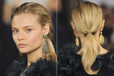 Fall Hair Trends to Try: Bouncy low pony at Ralph Lauren