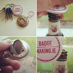 New bottle opener Key Rings, Dublin, Badges, Bottle Opener, Ireland, Printing, Marketing, Instagram Posts, Design