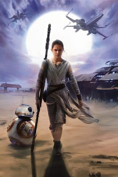Star Wars The Force Awakens Rey Mural