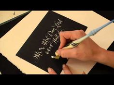 Antiquaria: Calligraphy in Action   Envelope Addressing in White!