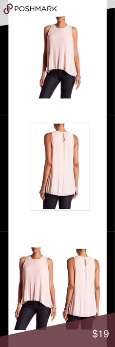 Blush Crinkle Pleated Tank Blush Chiffon Crinkle Pleated Tank. High-lo hem, lined, split sides. Soft creamy pink blush color. Nordstrom Tops Tank Tops