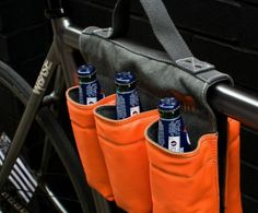 6-Bottle Bike Bag ($55): Though we can't recommend drinking and riding, this six-pack is great for heading to a potluck dinner or an evening in the park. 40 Rad Bike Gadgets to Rock Your Ride via Brit + Co.