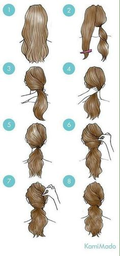 Great Pic Simple daily hairstyles step by step for girls Gym route . Tips Each hair has its quality, and can be individually carried. You can find therefore many sweet hair Easy Everyday Hairstyles, Daily Hairstyles, Easy Hairstyles For Medium Hair, Girl Hairstyles, Gym Hairstyles Easy, Step By Step Hairstyles, Hairdos, Wedding Hairstyles, Party Hairstyle