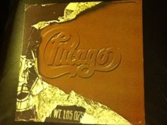 Chicago LP 1976 Looks like a yummy piece of milk chocolate. Think I will get a piece now.