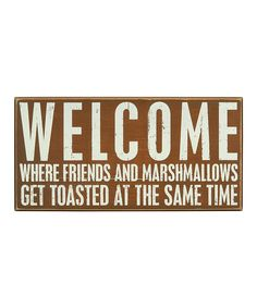 Fun welcome sign for a garden, cabin, or cottage