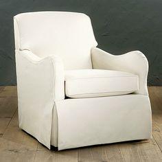 Elsie Swivel Glider Club Chair- love these arms!