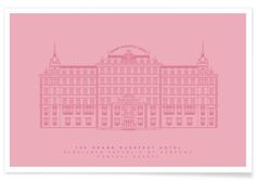 The Grand Budapest Hotel Pink as Premium Poster by Mat Voyce   JUNIQE UK