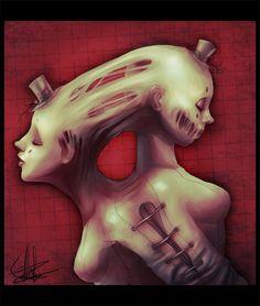 Sisters by Alis Zombie Dark Fantasy Art, Dark Art, Made By Mary, Art For Art Sake, Dream Art, Weird Art, Halloween Horror, Macabre, Artsy Fartsy