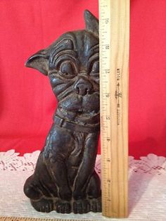 Electronics, Cars, Fashion, Collectibles, Coupons and Knobs And Knockers, Knobs And Handles, Door Knobs, Open Door Policy, Cast Iron Stove, Boston Terrier Dog, Door Stopper, Doorstop, Vintage Iron