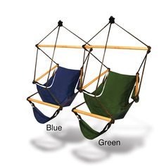Relax outside with this fun hammock chair that you can hang from a frame or on the nearest large tree. This chair resists water and UV damage, so i...